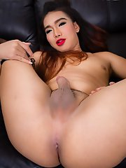 Mem is an all natural ladyboy from Bangkok. She is 20 years old, curvy body, round ass and rock hard uncut cock. She is more of a top :)