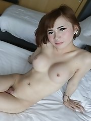 20 year old girlie girl Thai ladyboy sucks and fucks cock