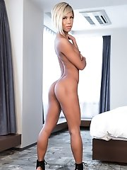 Japanese Ladyboy Miran - Chair Posing